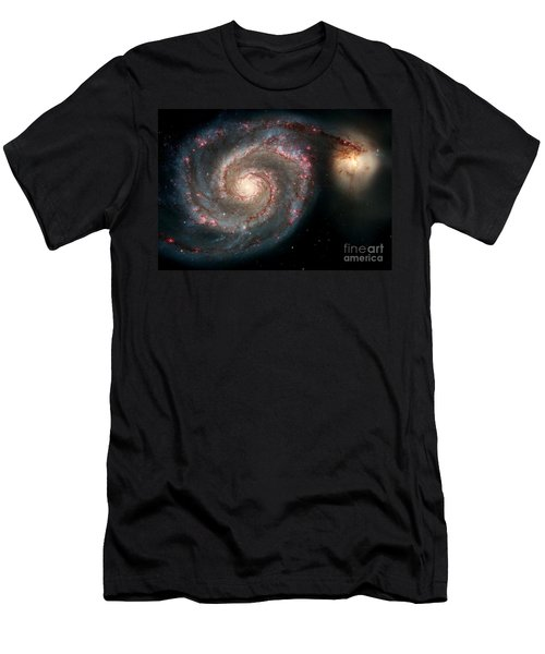 Nasa Galaxies In A Tug Of War Men's T-Shirt (Athletic Fit)