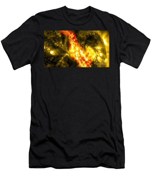 Nasa Solar Filament Eruption And Canyon Of Fire Men's T-Shirt (Athletic Fit)