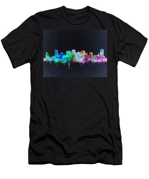 Nashville Skyline Watercolor 10 Men's T-Shirt (Athletic Fit)
