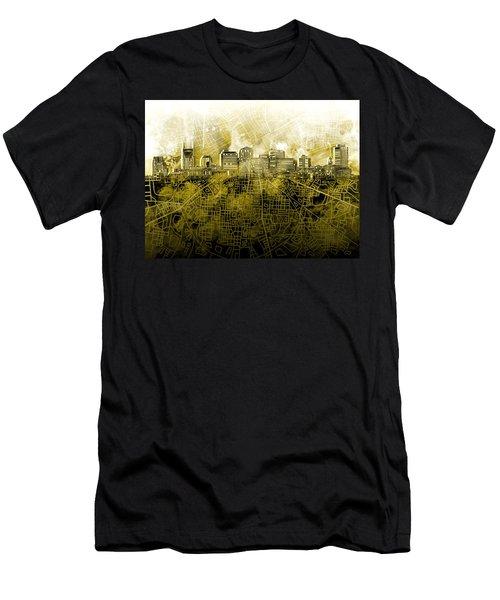 Nashville Skyline Watercolor 4 Men's T-Shirt (Athletic Fit)