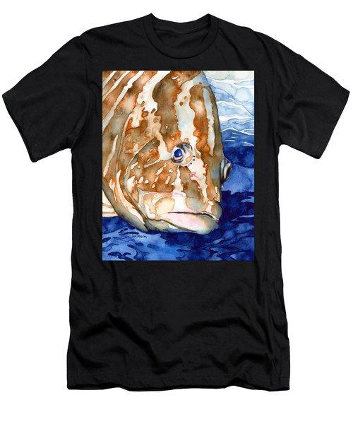 Nassau Grouper Portrait Men's T-Shirt (Athletic Fit)