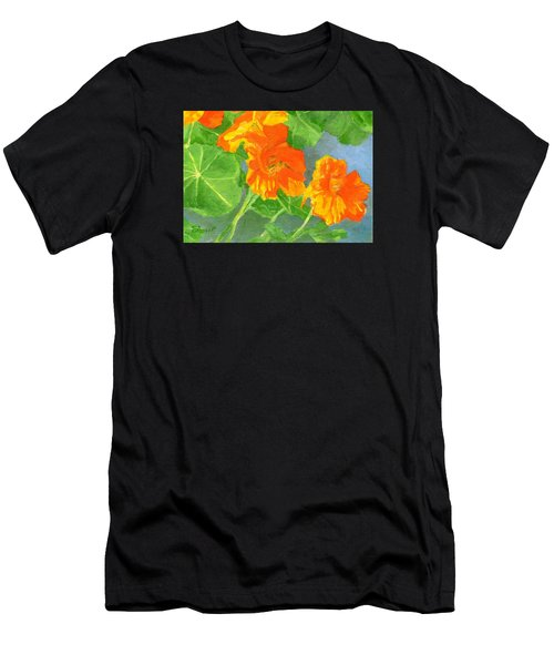 Nasturtiums Flowers Garden Small Oil Painting Men's T-Shirt (Athletic Fit)