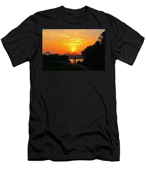 Natchez Sunset Men's T-Shirt (Athletic Fit)