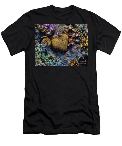 Men's T-Shirt (Slim Fit) featuring the photograph Natural Heart by Peggy Hughes