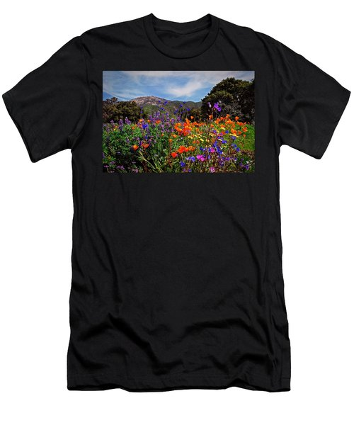 Nature's Bouquet  Men's T-Shirt (Slim Fit) by Lynn Bauer