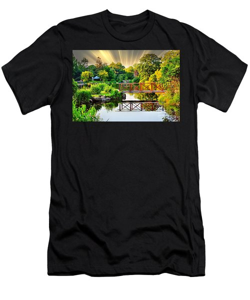 Men's T-Shirt (Slim Fit) featuring the photograph Nature's Reflections by Judy Palkimas