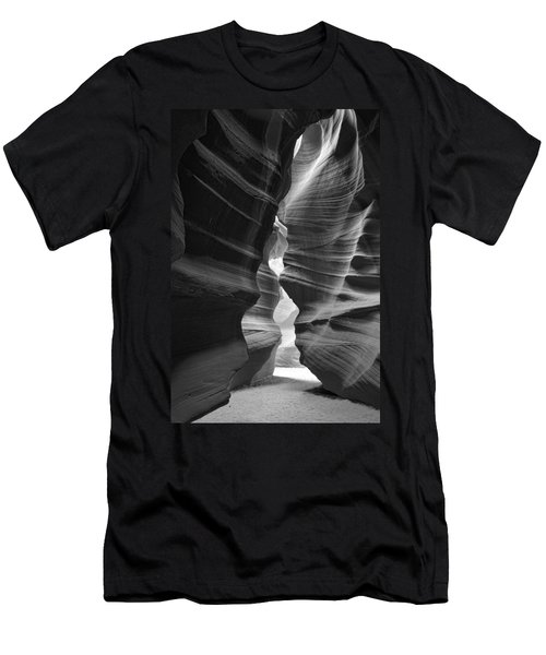 Antelope Canyon Black And White Men's T-Shirt (Athletic Fit)