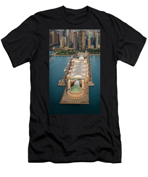 Navy Pier Aloft Men's T-Shirt (Athletic Fit)