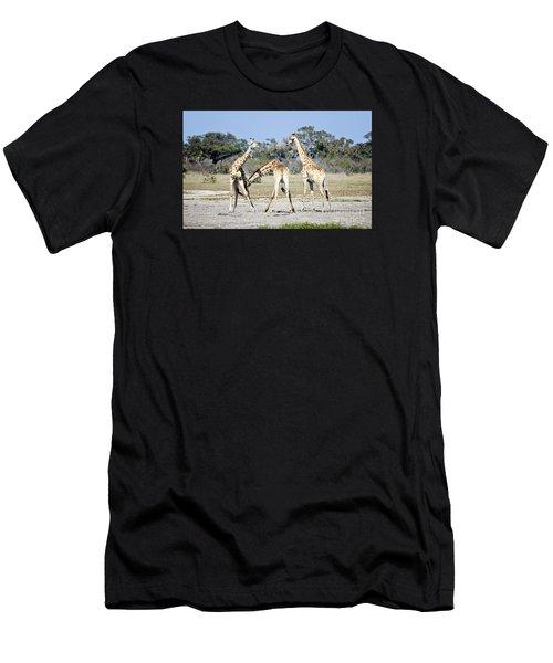 Necking Giraffes Botswana Men's T-Shirt (Athletic Fit)