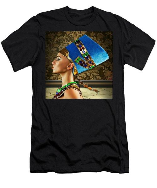 Men's T-Shirt (Slim Fit) featuring the digital art Nefertiti by Karen Showell