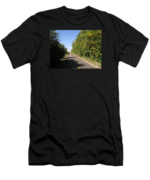Neighborhood Bicycle And Walking Trail Men's T-Shirt (Athletic Fit)