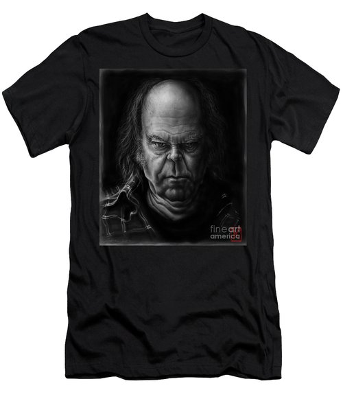 Neil Young Men's T-Shirt (Slim Fit) by Andre Koekemoer