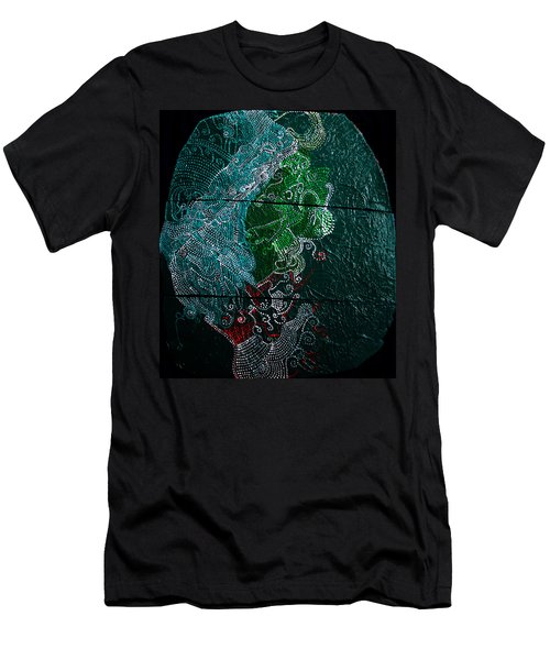 Men's T-Shirt (Slim Fit) featuring the painting Nemesis by Gloria Ssali