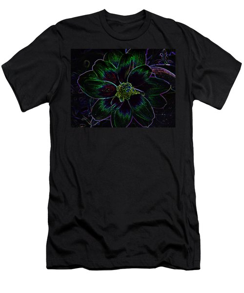 Men's T-Shirt (Slim Fit) featuring the photograph Neon Glow by Aimee L Maher Photography and Art Visit ALMGallerydotcom