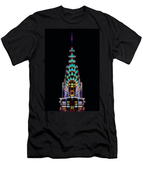 Neon Spires Men's T-Shirt (Slim Fit) by Az Jackson