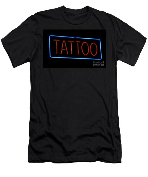 Neon Tattoo Sign Men's T-Shirt (Slim Fit) by Phil Cardamone