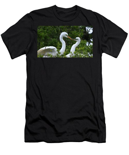 Men's T-Shirt (Slim Fit) featuring the photograph Nest Building by John F Tsumas