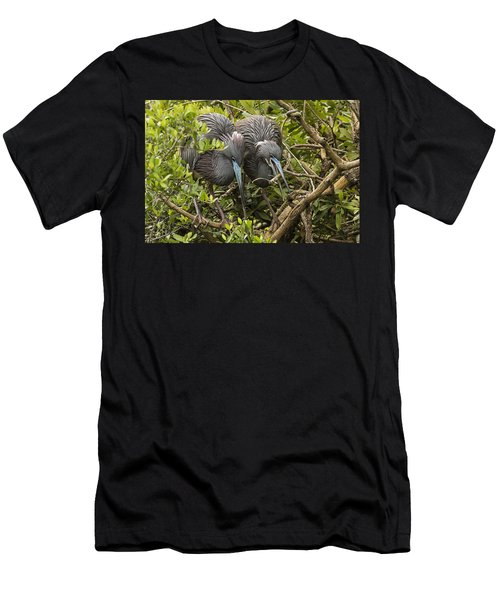 Men's T-Shirt (Slim Fit) featuring the photograph Nest Building by Priscilla Burgers