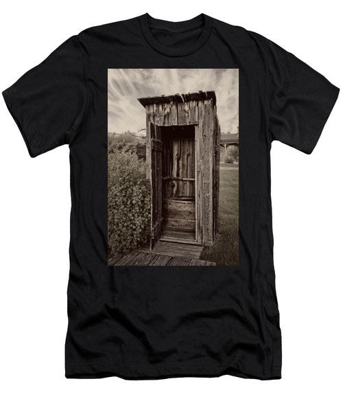 Nevada City Ghost Town Outhouse - Montana Men's T-Shirt (Athletic Fit)