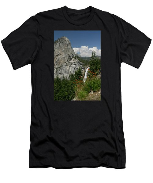 Nevada Falls Yosemite National Park Men's T-Shirt (Athletic Fit)