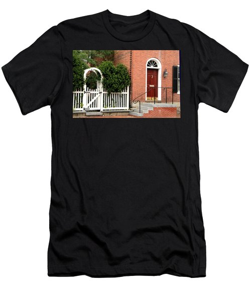 New England Street Scene Men's T-Shirt (Athletic Fit)