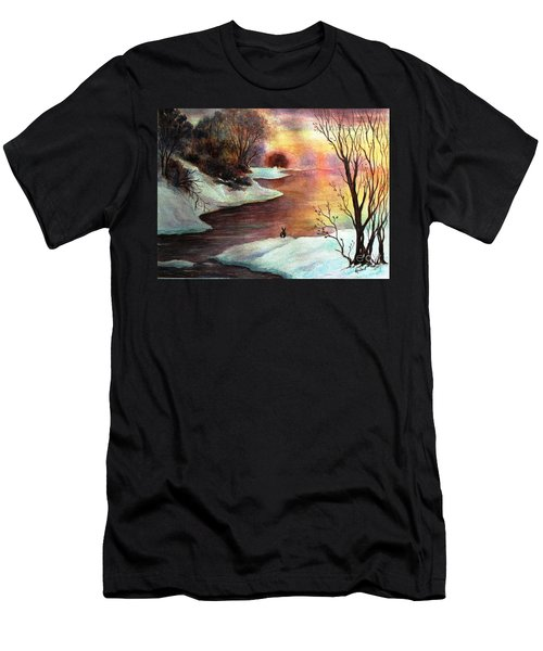 Men's T-Shirt (Slim Fit) featuring the painting New Every Morning  by Hazel Holland