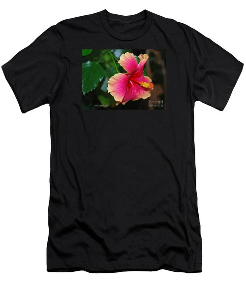 New Every Morning - Hibiscus Men's T-Shirt (Slim Fit) by Connie Fox