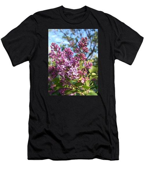 Purple Lilac Men's T-Shirt (Athletic Fit)