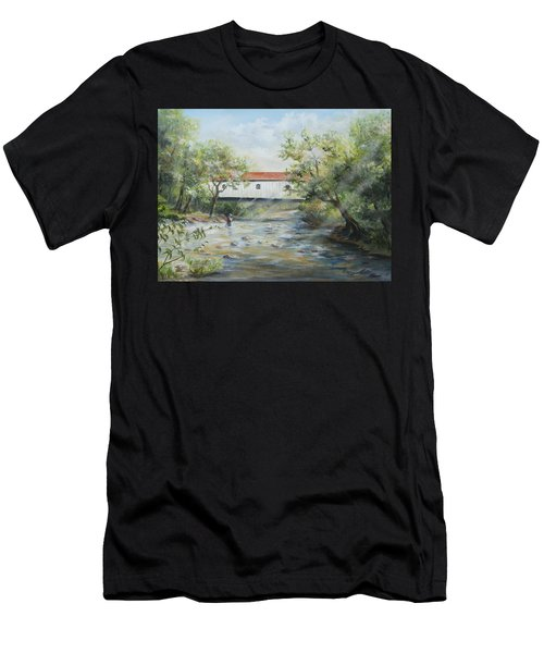 New Jersey's Last Covered Bridge Men's T-Shirt (Athletic Fit)