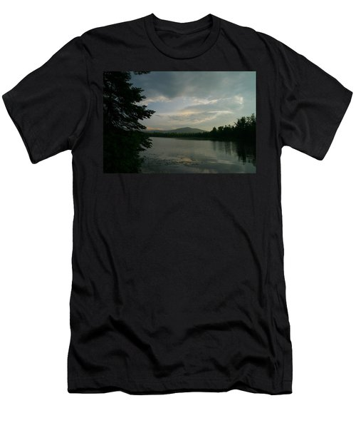 Men's T-Shirt (Slim Fit) featuring the photograph New Morning On Lake Umbagog  by Neal Eslinger