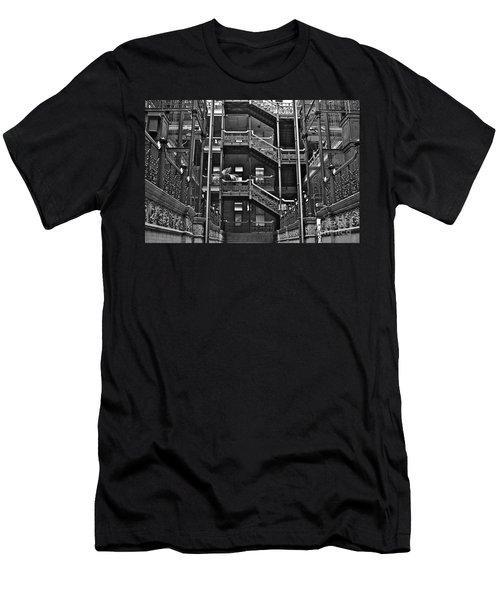 New Photographic Art Print For Sale Bradbury Building Downtown La Men's T-Shirt (Athletic Fit)
