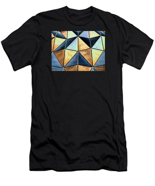Pop Art Abstract Art Geometric Shapes Men's T-Shirt (Athletic Fit)