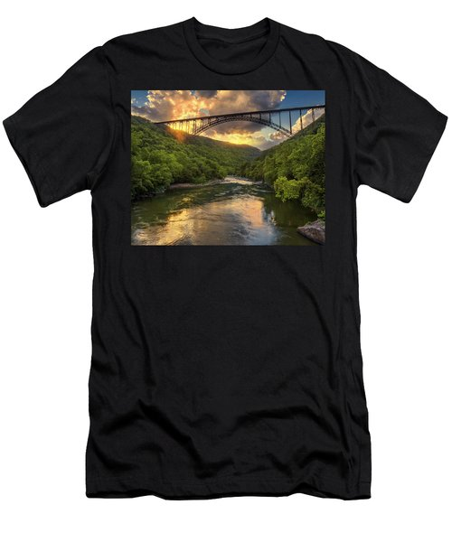 New River Evening Glow Men's T-Shirt (Slim Fit)