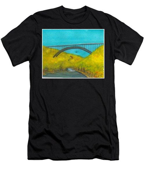 New River Gorge Bridge On Bridge Day Men's T-Shirt (Athletic Fit)