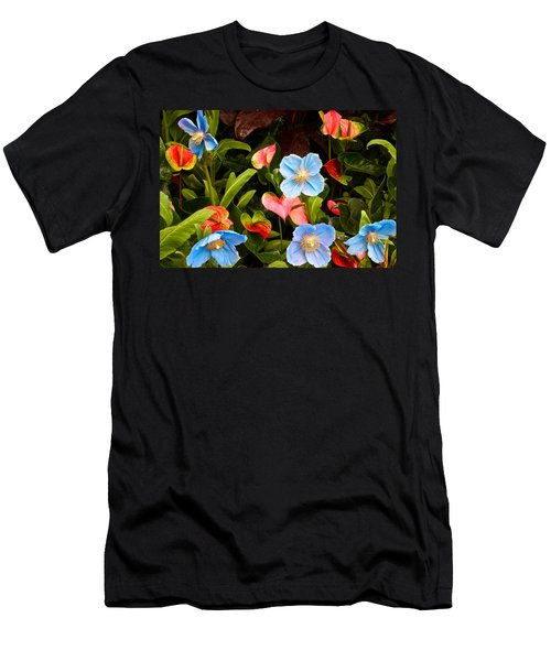 New World And Old World Exotic Flowers Men's T-Shirt (Athletic Fit)