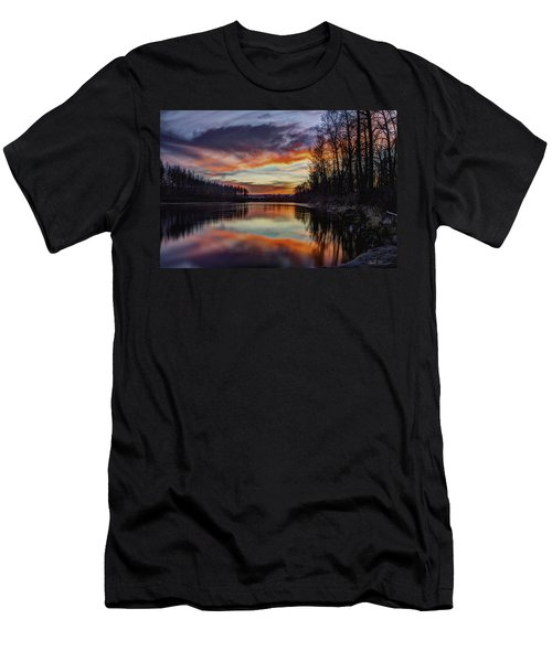 New Years Eve Sunset Men's T-Shirt (Athletic Fit)