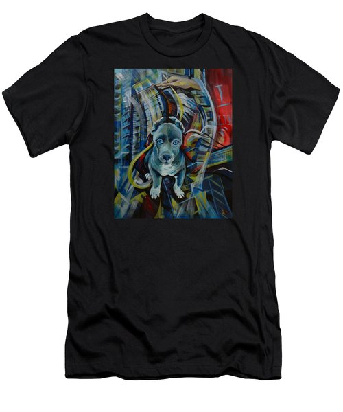 Men's T-Shirt (Slim Fit) featuring the painting New York by Anna  Duyunova