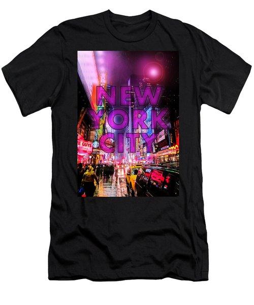 New York City - Color Men's T-Shirt (Athletic Fit)