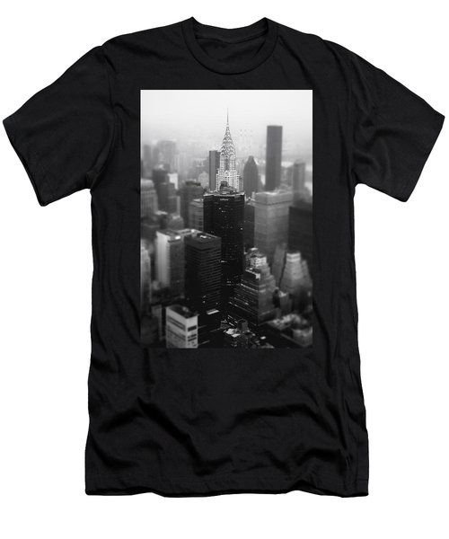 New York City - Fog And The Chrysler Building Men's T-Shirt (Slim Fit) by Vivienne Gucwa