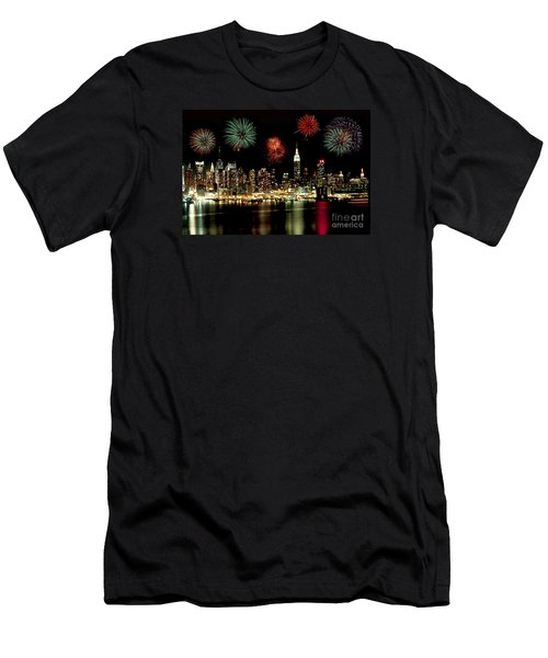New York City Fourth Of July Men's T-Shirt (Slim Fit) by Anthony Sacco