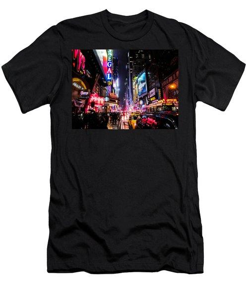 New York City Night Men's T-Shirt (Athletic Fit)