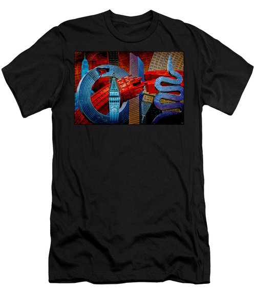 New York City Park Avenue Sculptures Reimagined Men's T-Shirt (Athletic Fit)