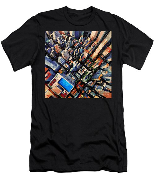 New York City Sky View Men's T-Shirt (Athletic Fit)