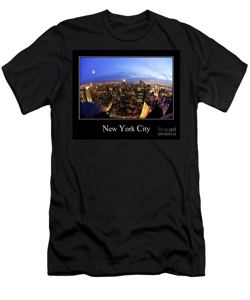New York City Skyline Men's T-Shirt (Athletic Fit)