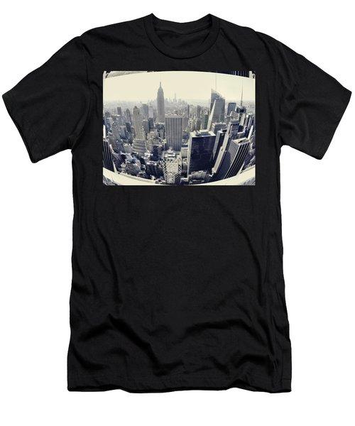 New York City Skyline Dream Men's T-Shirt (Athletic Fit)