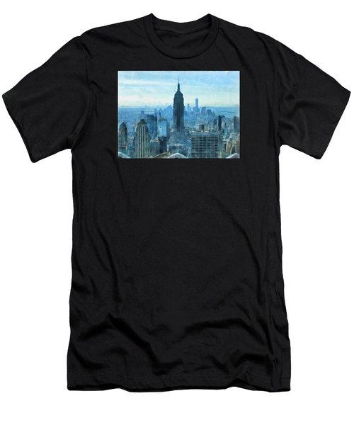 New York City Skyline Summer Day Men's T-Shirt (Athletic Fit)