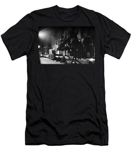 Men's T-Shirt (Slim Fit) featuring the photograph New York City Street by Steven Macanka