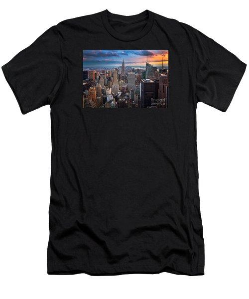 New York New York Men's T-Shirt (Slim Fit) by Inge Johnsson