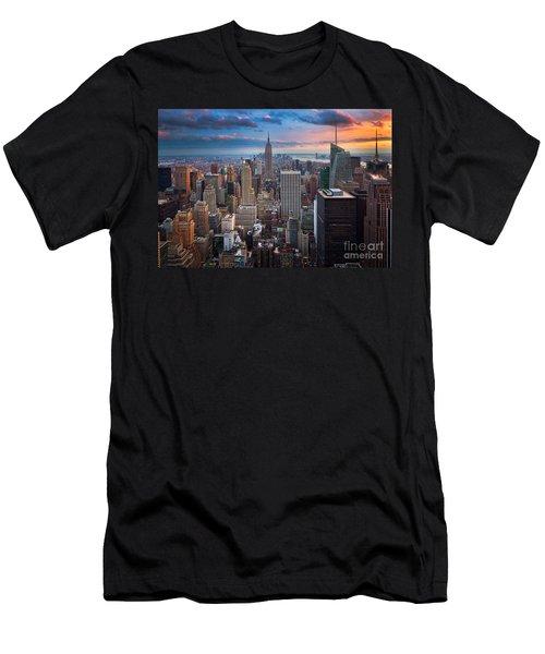 New York New York Men's T-Shirt (Athletic Fit)