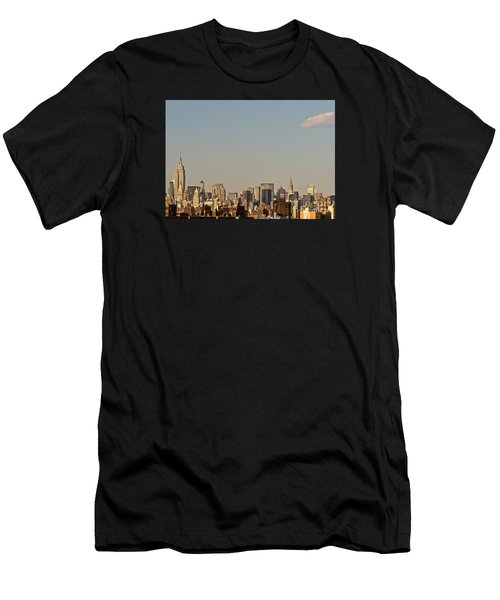 Men's T-Shirt (Slim Fit) featuring the photograph New York City Skyline by Kerri Farley